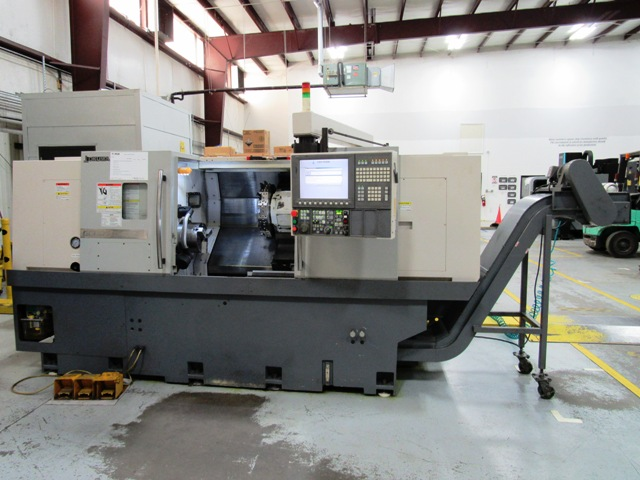 #22300 OKUMA Genos L400E CNC Turning Center, mfg. 2012