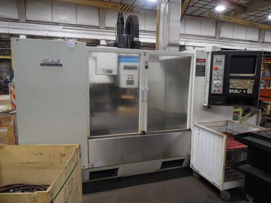 Fadal 4020 Vertical Machining Center W/High-Speed 32MP Control. 10K RPM, Spindle Chiller. 1996 CNC VMC with 4th Axis Pre-Wire, Spindle Chiller, Rigid Tapping, Graphics