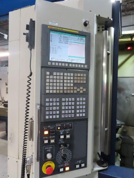 2015 Kiwa KH-41 4-Axis Horizontal Machining Center, Fanuc OI-MB CNC Control, ATC, Renishaw Probe, Rotary Type Worktable, LNS Chip Conveyor