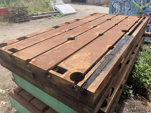 """5' X 10' X 13"""" THK T-SLOTTED FLOOR PLATES (SET OF 2)"""
