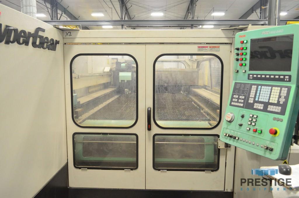 """4000 Watt Mazak Hypergear 510, 60"""" x 120"""", Mazak Preview CNC, Pallet Shuttle, Linear Drives, 2006, #30733"""