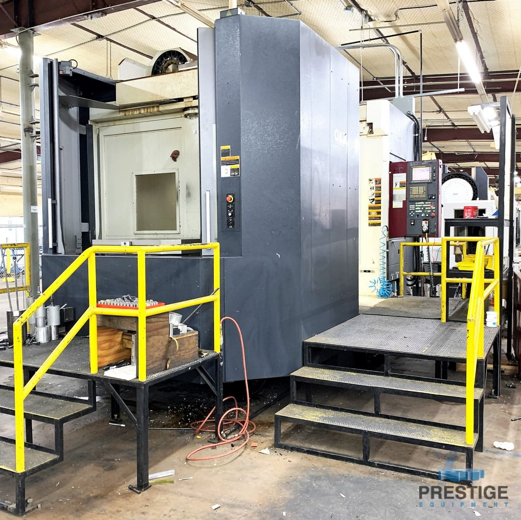 "OKK HM-1000S, 4-Axis, X-55"", Y-43"", Z-39"", 40"" x 40"" Pallets, 60 ATC, 6K RPM, Chip Blaster, Fanuc 310iS-A5, 2008, #31246"