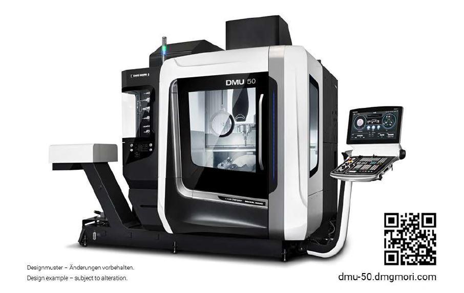 """DMG Mori DMU-50 , Siemens 840D control, 19""""X17""""x15"""", 15k rpm, HSKA63 taper, 30 tools, 2019"""