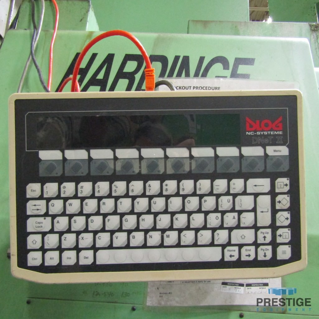 "Hardinge VT-200,15.75"" 3-Jaw Chuck, 25.5"" Swing, Live Milling, 12-Pos. Turret, Renishaw Probe, Fanuc 16-T, 2000, #30479"