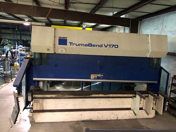 2003 Trumpf V170 CNC Press Brake, 14' x 190 Ton, 6 Axis