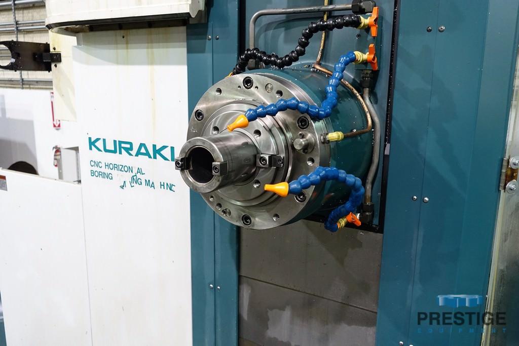 """Kuraki KBT-11WA, 4.33"""" Spindle, X-78.74"""", Y-59"""", 63"""" x 55"""" 4-Axis Rotary Table, CTS, Probe, Fanuc 31iA5, 2012, #31250"""
