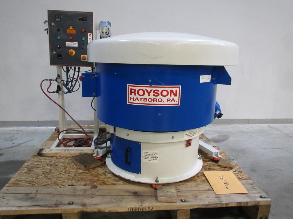 Royson, 5-CTV-IS, Vibratory Bowl, 4 cu. ft. , 2 HP, 1800 RPM, cyc timer, air acoustic lid, excellent, 2011, GP-21175