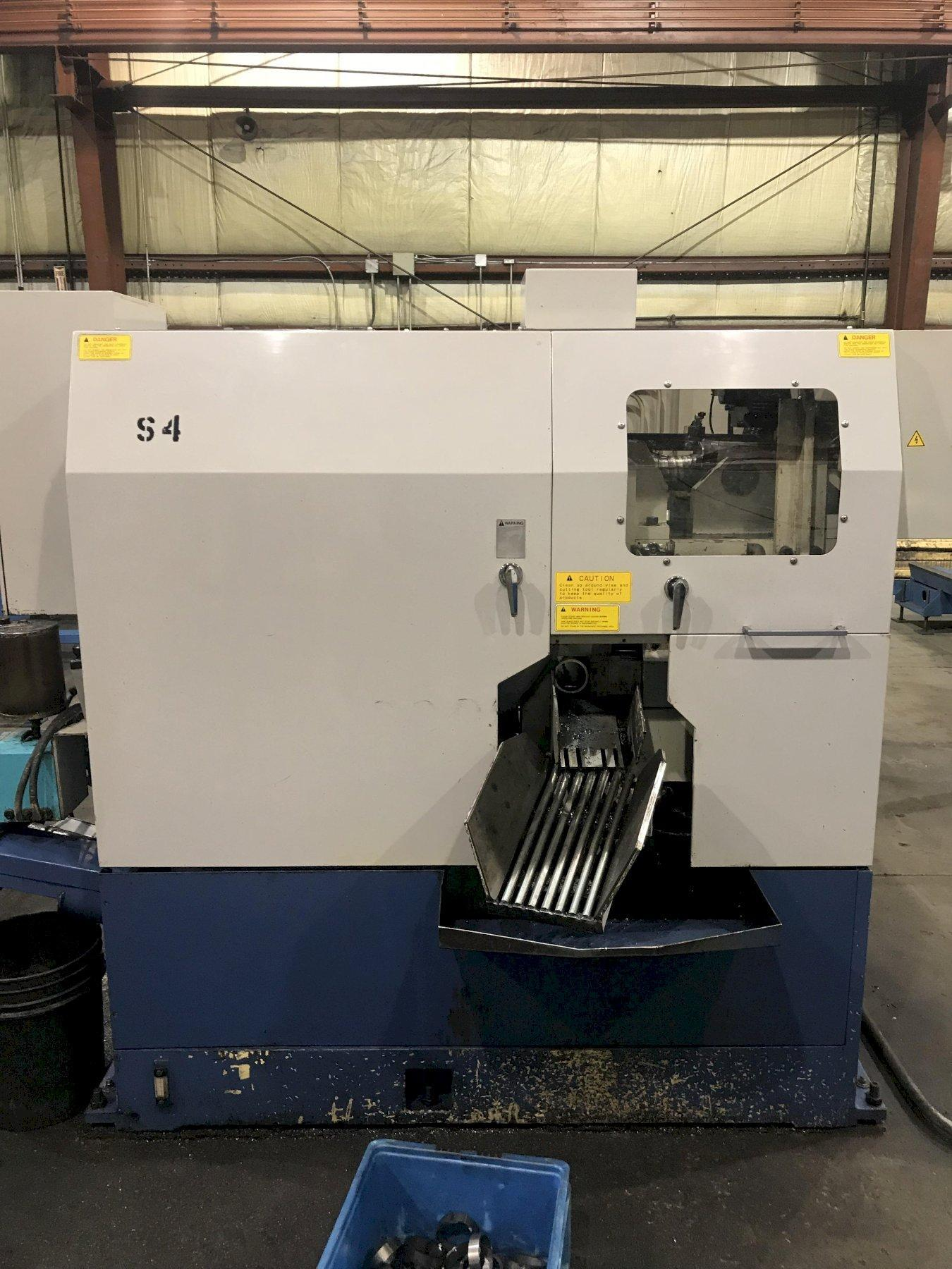 USED TSUNE MODEL TK5C-101GL CNC FULLY AUTOMATIC CNC CIRCULAR CARBIDE SAW, Stock no. 10688, Year 2004