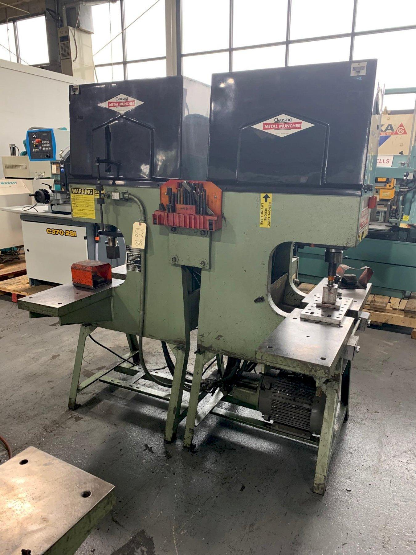 USED METAL MUNCHER DOUBLE END 70 TON HYDRAULIC PUNCH MODEL DP 70, Stock# 10698 , Year 2000