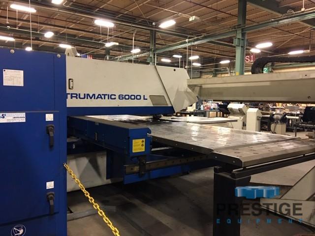 """25 Ton Trumpf TC-6000L Punch/Laser, 65""""x121"""", Siemens 840D, 3200 Watt Laser, 18 ATC, Liftmaster, Multitool, 2005, #30807"""