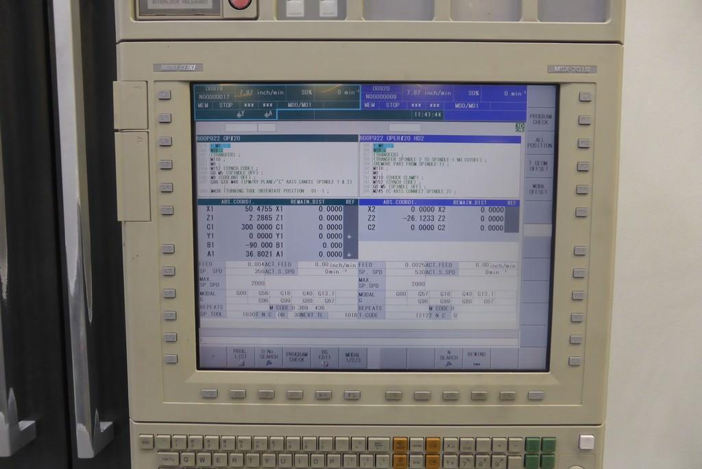 "Mori Seiki NT4250DCG/1000SZ, 28.74"" Swing, L & R Spindles, 10"" Chucks, 53"" C.C, B-Axis Milling Spindle, 2010, #30057"