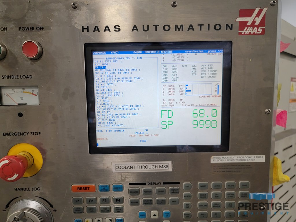 "HAAS EC 400, (2) 15.75"" Pallets, X-22"", Y-25"", 12,000 RPM, 72 Station ATC, 1000 PSI TSC, Tombstones, 2007, #31510"