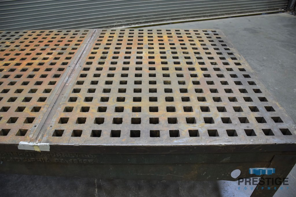 """Acorn 8' x 5' Welding Table, 30"""" Height, 2"""" x 2"""" Holes, 3"""" Thick Table, #30857"""