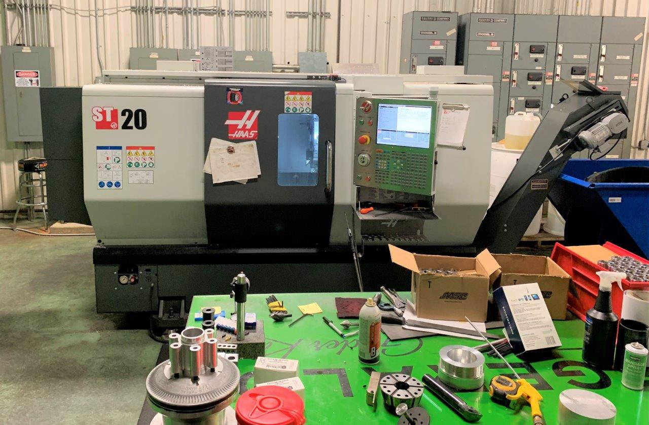 HAAS ST-20, 2016, LIVE MILLING, COLLET CHUCK, CHIP CONVEYOR, ONLY 1,000 HOURS