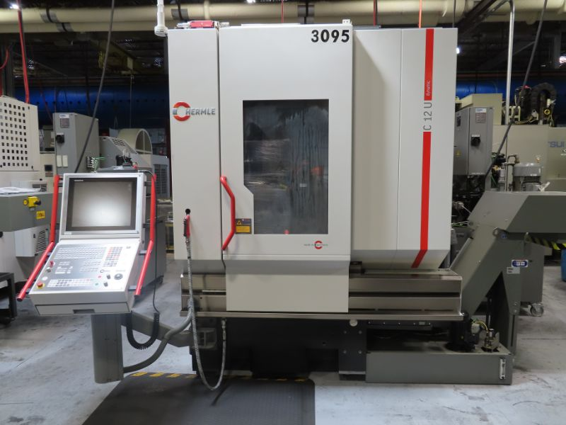 2018 Hermle C12U 5-Axis Vertical Machining Center, Heidenhain CNC Control, 2-Axis Built In CNC Trunnion Table, 60 ATC, Chip Conveyor, 2018 Knoll High Pressure Coolant Model FKA750