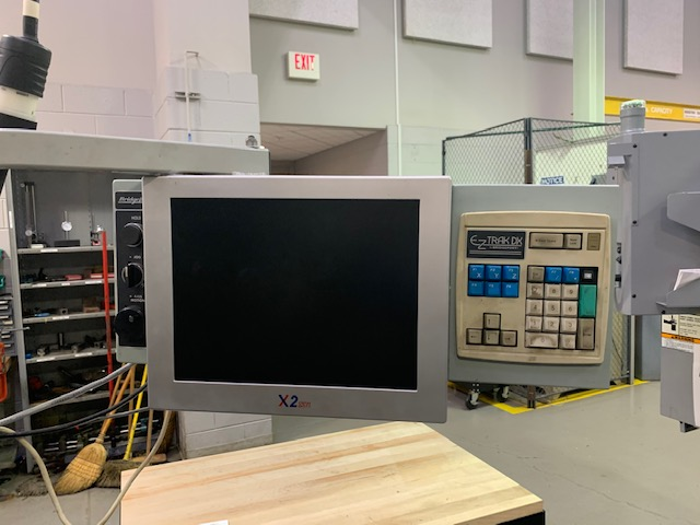 "1998 Bridgeport Vertical CNC Mill W/ EZ-Trak DX Control. 9"" x 48"" Table, Chrome Ways, One Shot Lubrication. 3-Axis DRO's, 2-Axis CNC"
