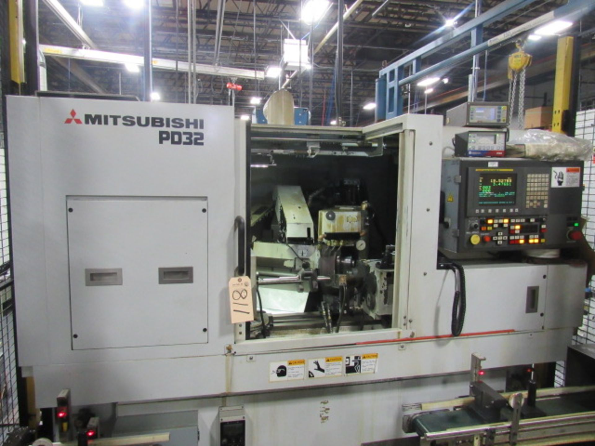 MITSUBISHI PD32-50A CNC ANGLEHEAD CYLINDRICAL GRINDER, NEW 2013, Fanuc Series 32i-B CNC Control, Rotary Dresser, SBS Auto Wheel Balancing, In-Process Sizing Gauge, Lateral Locating (Shoulder Gauge)