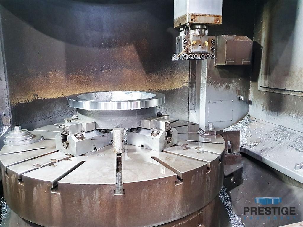 "Hankook VTB-125F, 49"" Table, 63"" Swing, 35"" U.R, 17,600 Lb Tbl Cap, 360 RPM,  50 HP, Fanuc 32iA CNC, 2017, #31059"