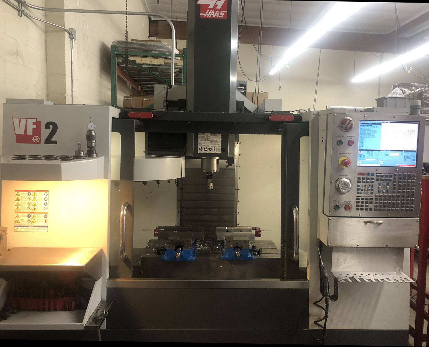 HAAS VF2 3-Axis Wired for 4, 20 Tool, Rigid Tapping, Only 1200 Hrs Run Time