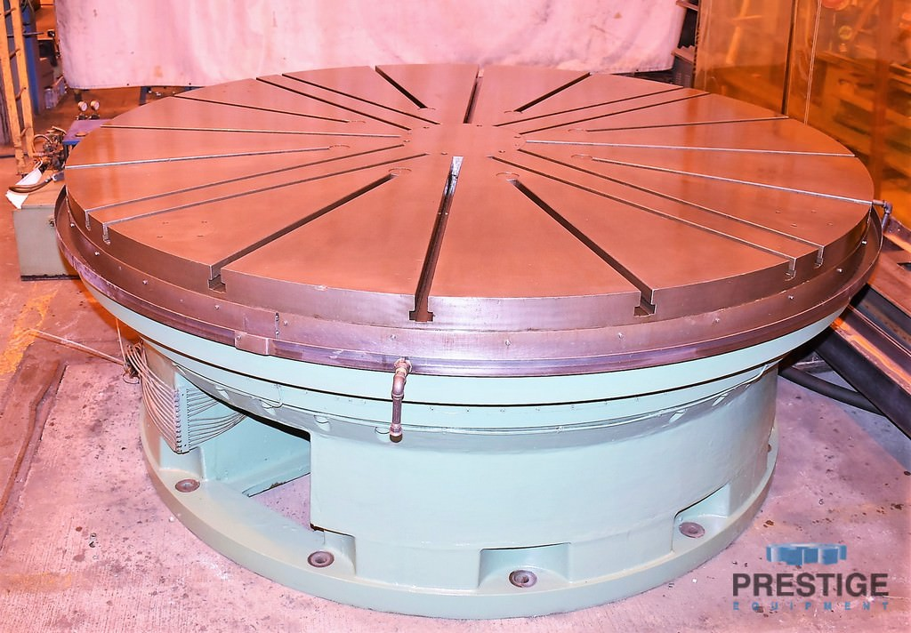 """120"""" Waldrich CNC Rotary Table, .002 - 1.26 RPM, Contouring, 50 Ton Capacity, 30"""" Work Height, 20 HP Tbl Motor, #30165"""
