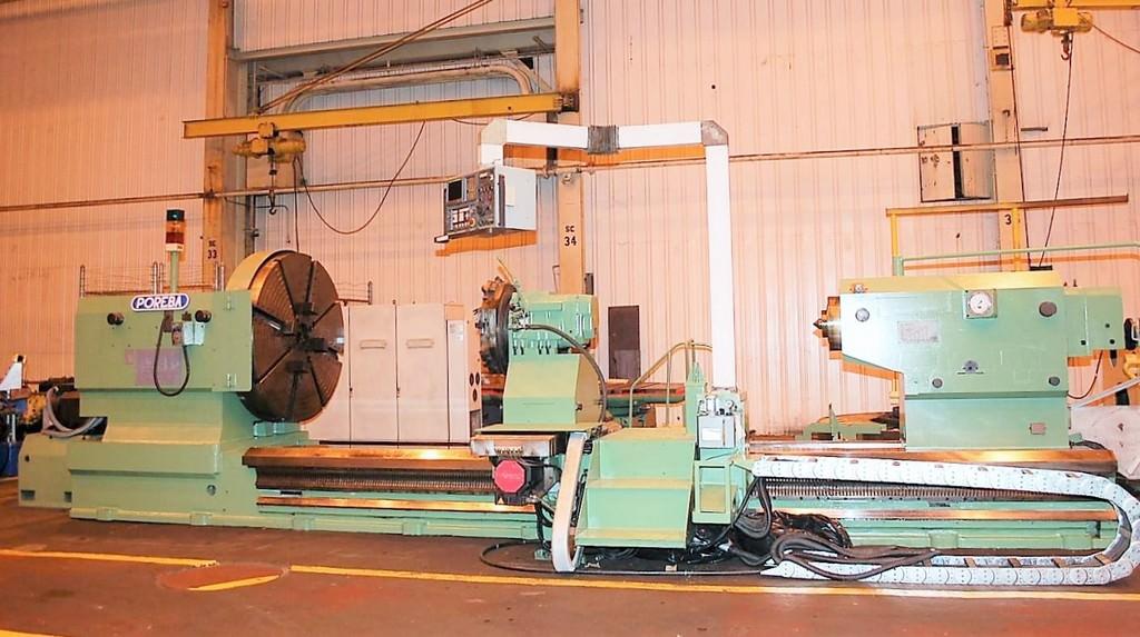 """Poreba TCF 200/5M, 78"""" x 196"""", 30 Ton Wt. Cap., 4.13"""" Spdl Bore,.5-152 RPM Fanuc O-T CNC, 74 HP, #27808"""