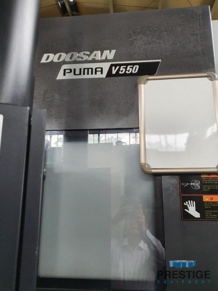 "Daewoo Puma V550, Fanuc Series i CNC, 28"" Dia., 2000 RPM, 12 Sta. Turret, 24"" Hyd. Chuck, 2016, #30948"