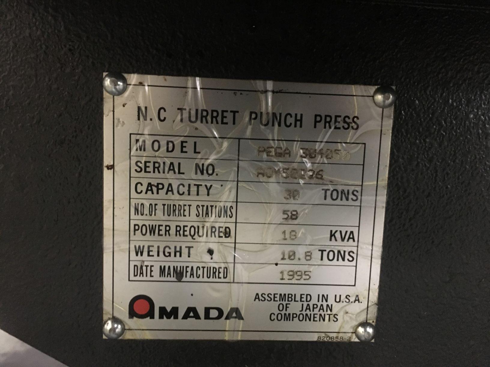 1995 Amada PEGA 345 CNC Turret Punch Press