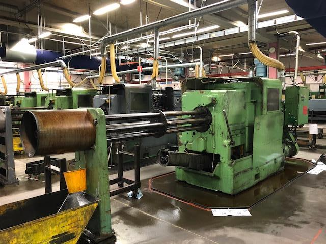 """Wickman 1 3/4"""" - 6 spindle multispindle, Pick Up, Thread rolling & Selection of tool holders Fully enclosed guarding Chip conveyor Stock reel and stand"""