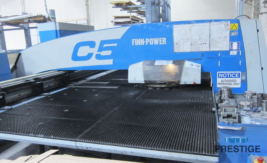 "33 Ton Finn Power C5, 50"" x 100"", Siemens CNC, 20 Station Mate Thick Style Turret, (4) AI, 2007 #31061"