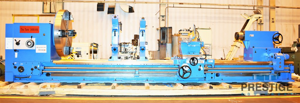 """72"""" x 236"""" Tru Turn, 1840/6M, 57"""" Over C/S, 315 RPM, Inch/Metric Threading ,Steady Rests, 40 HP, NEW, #30808"""