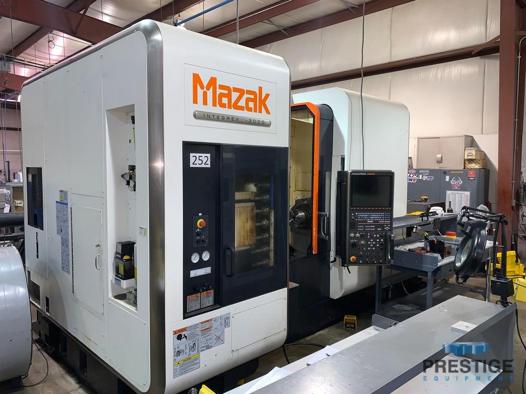 Mazak Integrex i-200S 7-Axis,  12,000 RPM Mazatrol Matrix CNC Ctrl, 36 Sta. ATC,Milling, Renishaw Probe, 2011, #30691