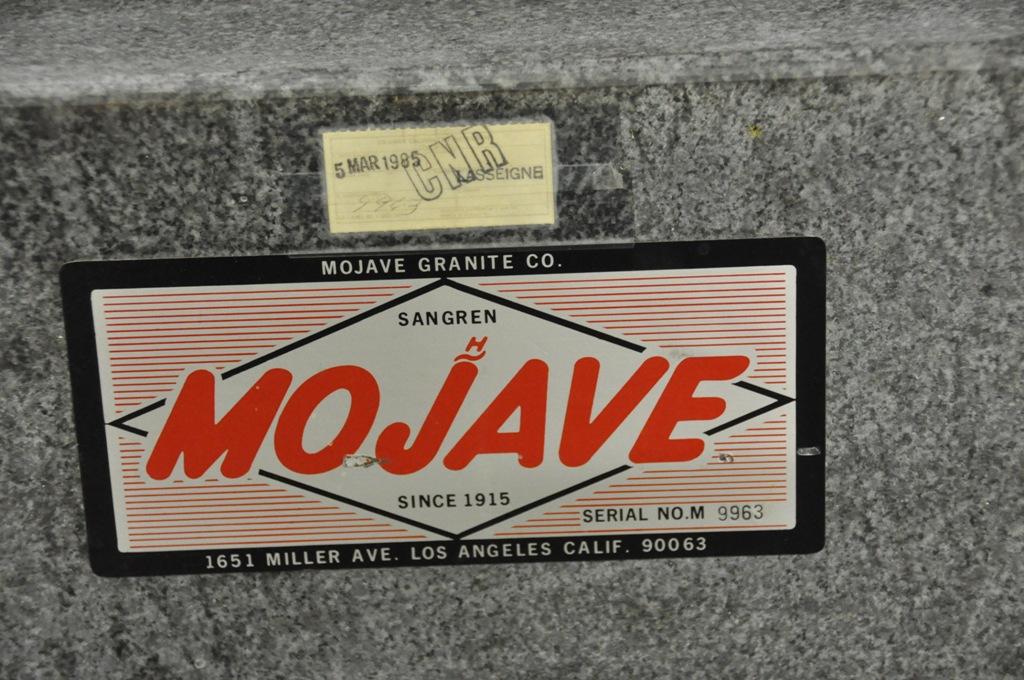 "36"" X 60"" X 6"" MOJAVE BLACK GRANITE SURFACE PLATE"
