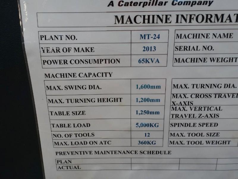YOU JI 1 200 ATC-+C CNC Vertical Turning Lathe (2013)