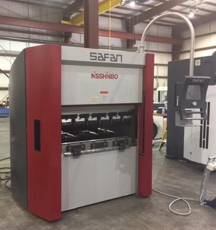 """5 Ton x 48"""" NISSHINBO SAFAN Servo Controlled Brake Press, CNC"""