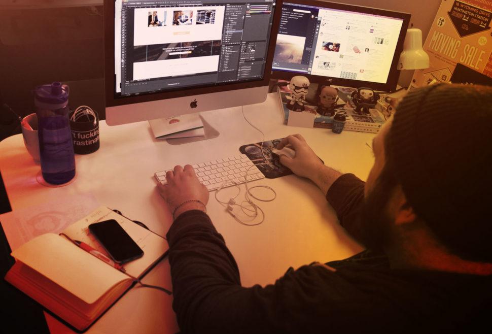 Joe Designing a Website