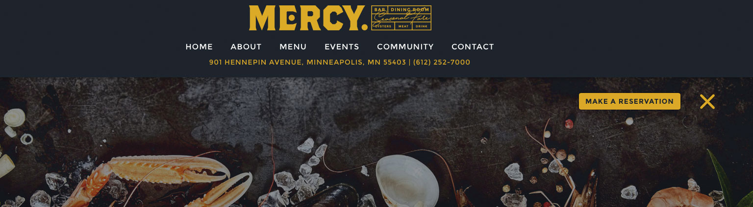 Mercy Restaurant Navigation Build by Logic Web Media
