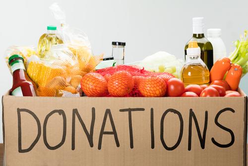 food drive donations concept