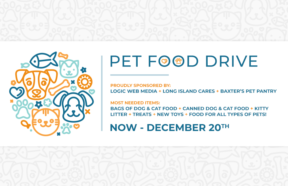 pet food drive graphic