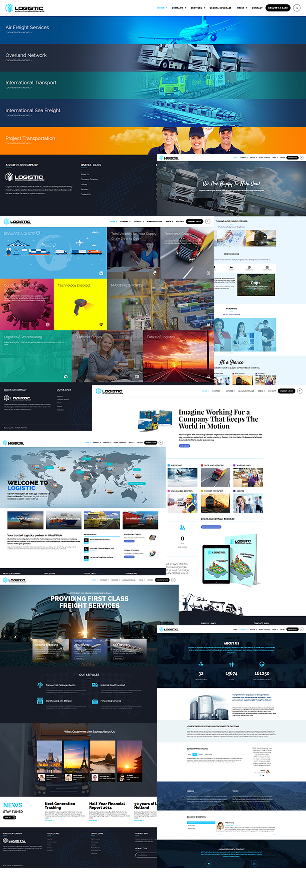\ Logistic – WP Theme For Transportation Business Nulled Free Download 8