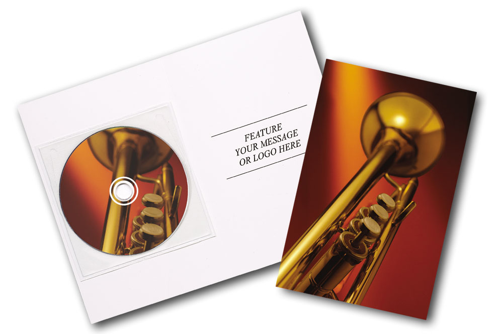 CD Big Band Music Greeting Card Image