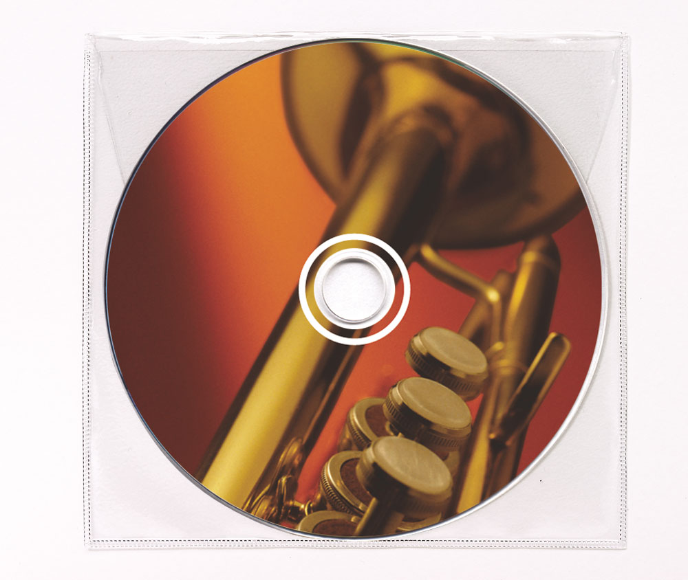 CD Big Band Music Clear Poly Sleeve Image