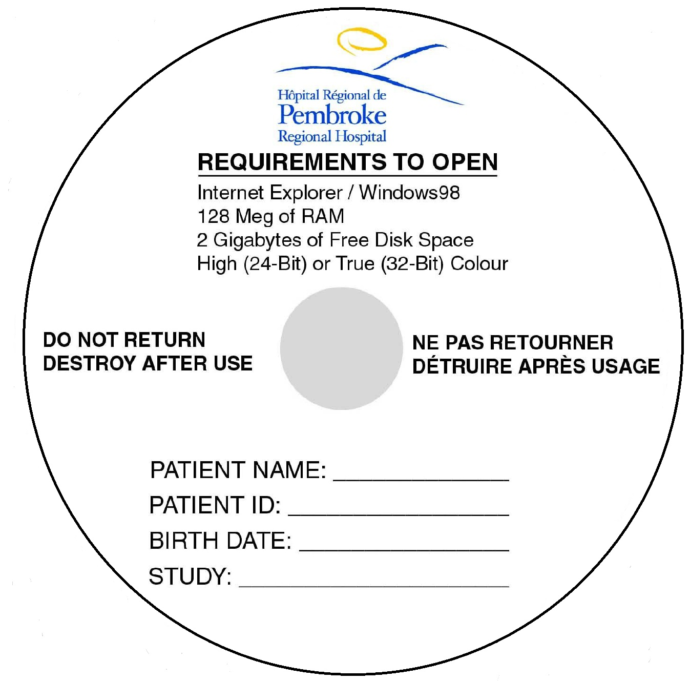 CD Blank CD-R for the Medical Industry Image