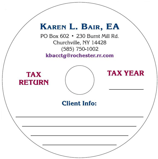CD Blank CD-R for the Tax Industry Image