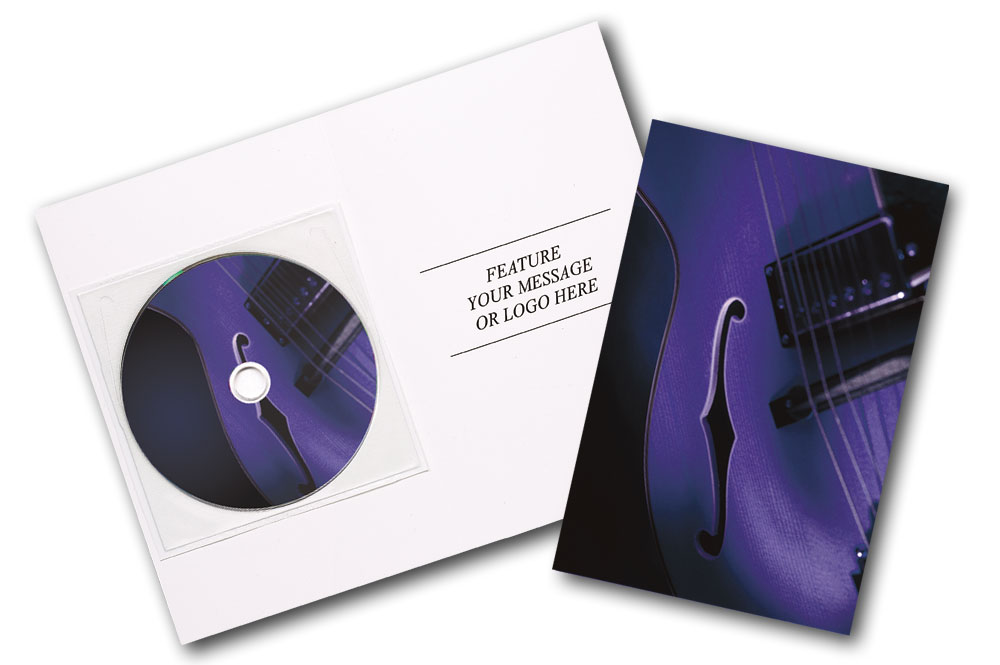 CD Blues Music Greeting Card Image