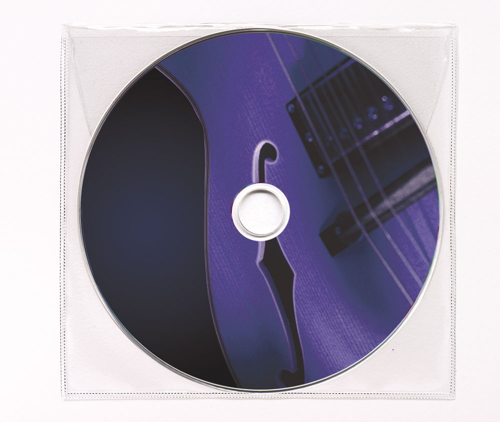 CD Blues Music Clear Poly Sleeve Image