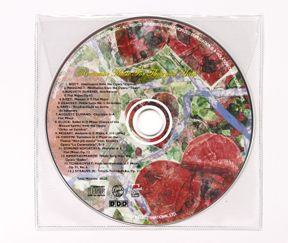 CD Classical Music Clear Poly Sleeve Image