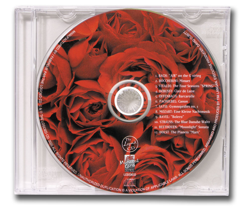 CD Classical Music Clear Jewel Case Image