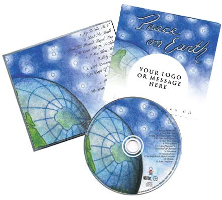 CD Christmas Music Traditional Package Globe Image