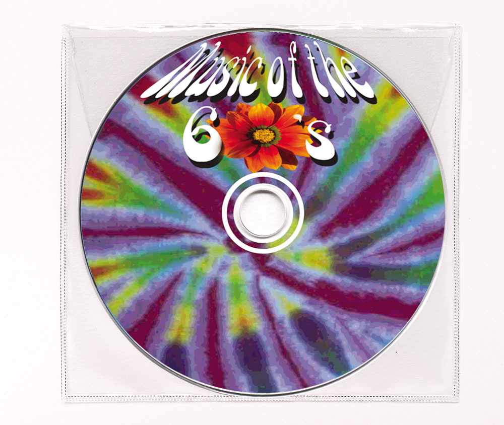 CD Hits of the 60's Clear Poly Sleeve Image
