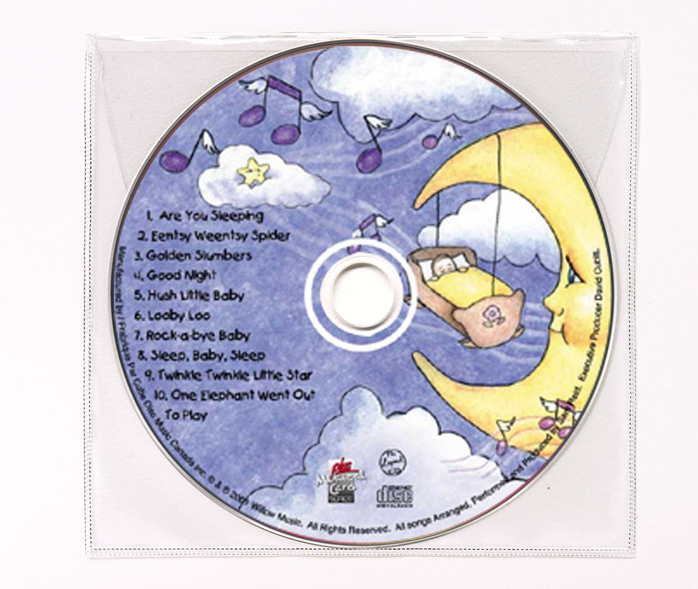 CD Children's Music Clear Poly Sleeve Image
